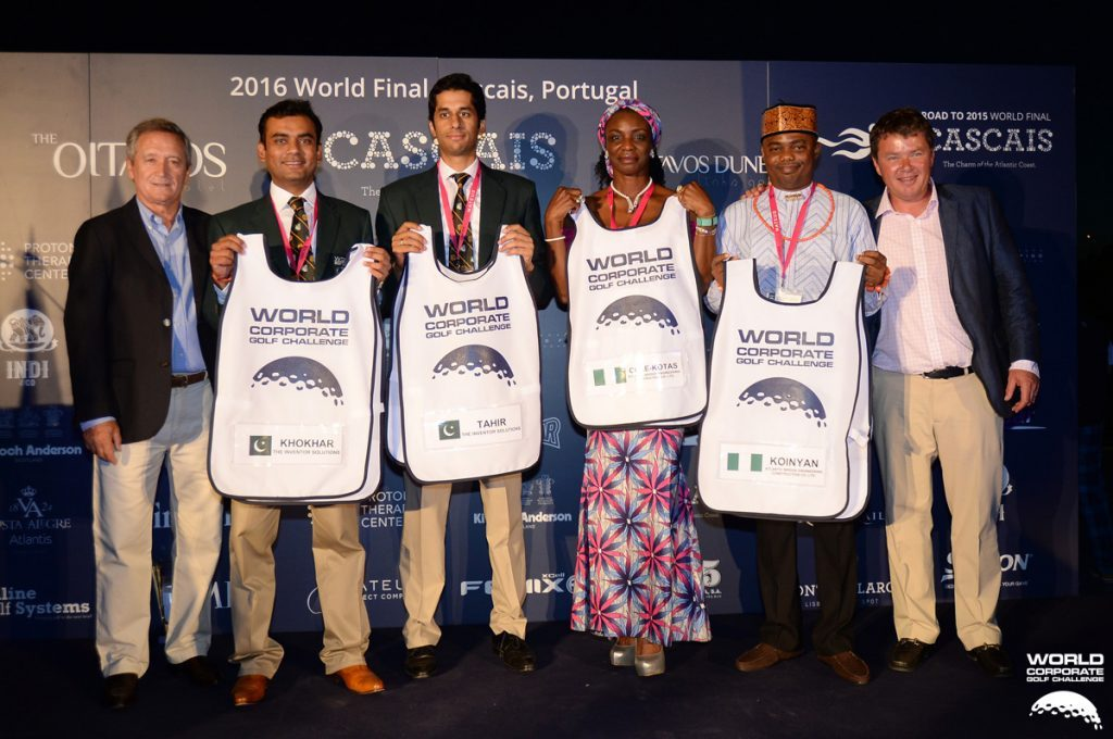 Pakistan and Nigerian Team with Simon Holmes and Manuel Pinero- Team draws at World Final